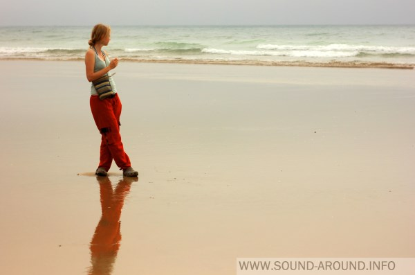 The most enjoyable music - it's the noise of the ocean waves ...
