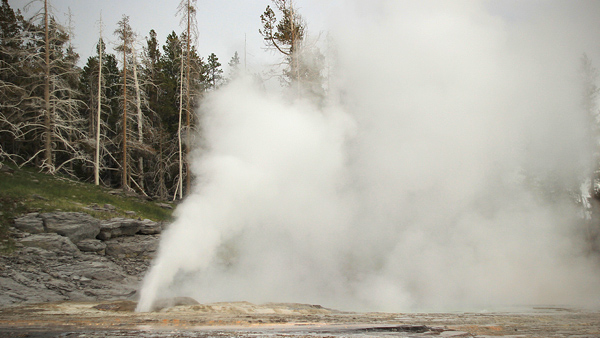 A lot of people are going to look at the eruption of the geyser