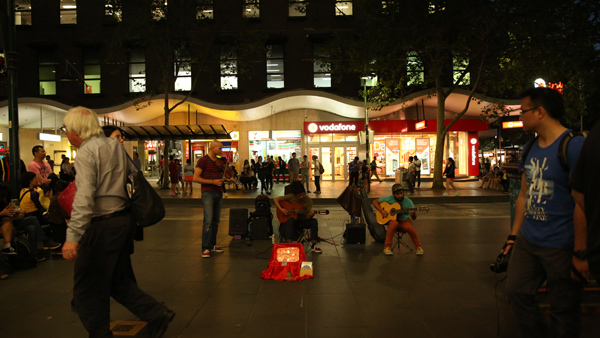 Tram rides, street musicians play in Melbourne
