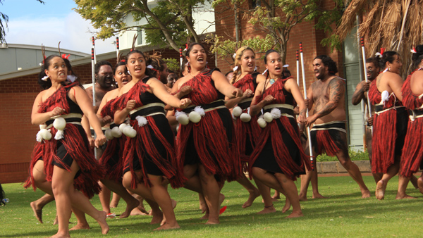 New Zealand haka dance is also found in Australia. It looks intimidating and impressive!