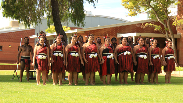 New Zealand women sing traditional before dance hack